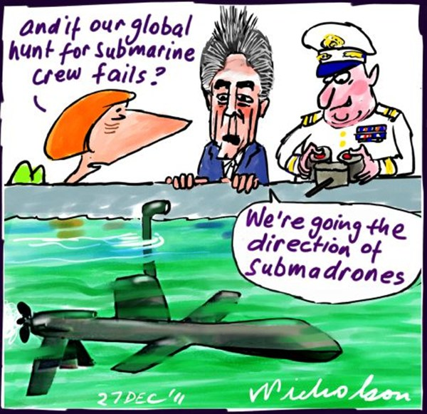 Peter Nicholson - The Australian, Sydney, Australia - Submadrone - English - submarine,drones,water,direction