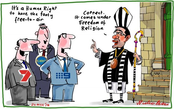 Peter Nicholson - The Australian, Sydney, Australia - Freedom of Religion - English - freedom,religion,human,rights