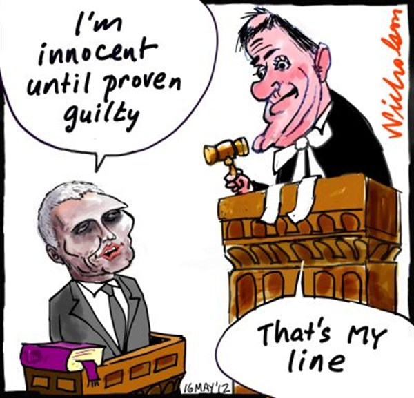 Peter Nicholson - The Australian, Sydney, Australia - Innocent Until Proven Guilty - English - innocent,guilty,proven,judge