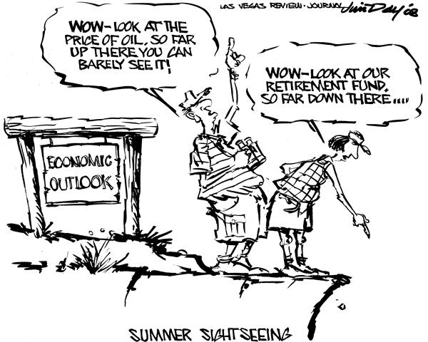 Jim Day - Las Vegas Review-Journal - Scenic economic outlook - English - Economy, recession, gas, retirement, 401k