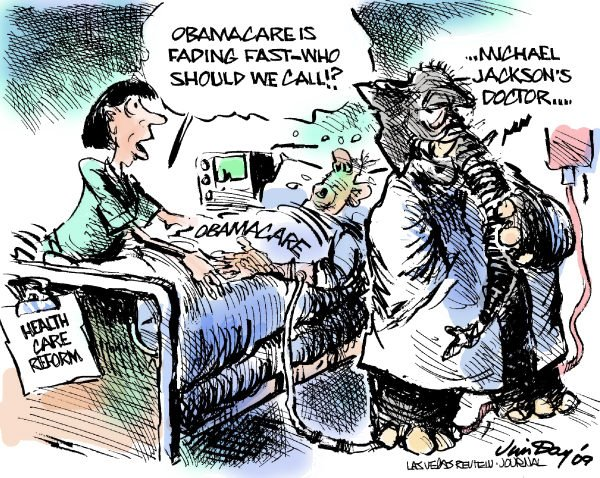 Jim Day - Las Vegas Review-Journal - Saving Obamacare - COLOR - English - Health care reform, Obamacare