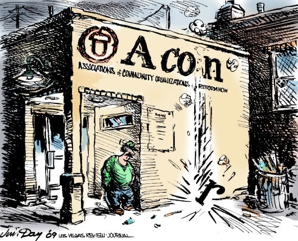 Jim Day - Las Vegas Review-Journal - Acorn a con -- COLOR - English - Acorn, Associations of community organizations for reform now