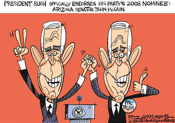 David Fitzsimmons - The Arizona Star - McBush - English - McCain, Bush, elections, 2008, GOP, Republicans