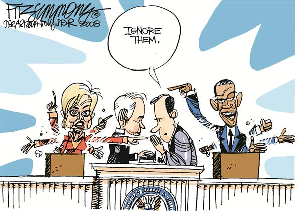 David Fitzsimmons - The Arizona Star - Inauguration - English - McCain, Hillary, Clinton, Obama, inauguration