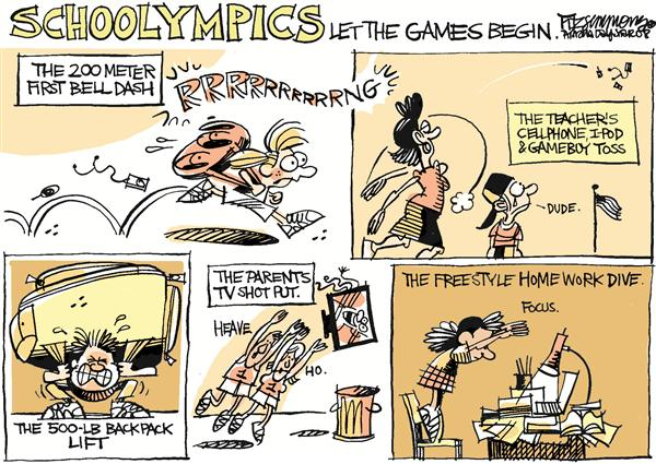53979 600 School Olympics cartoons