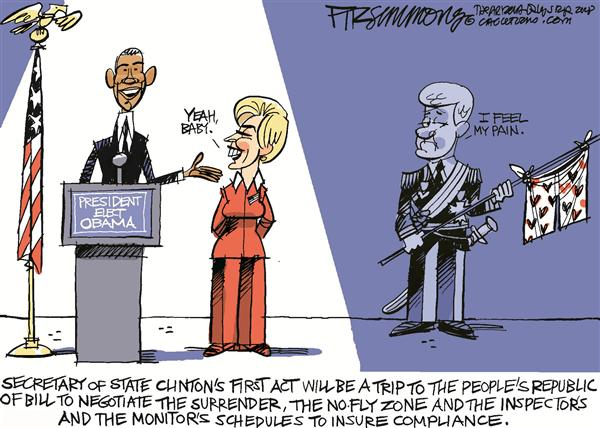David Fitzsimmons - The Arizona Star - Clinton COLOR - English - Clinton, Obama, Secretary, State, Hillary, Bill