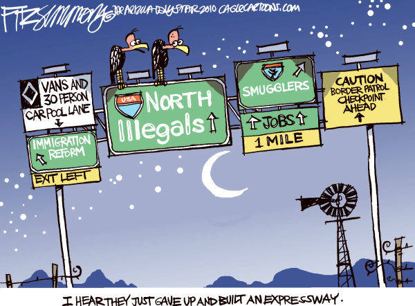 76650 600 Illegal Immigration Highway cartoons