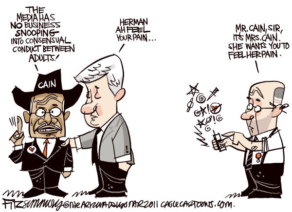 David Fitzsimmons - The Arizona Star - Cain pain - English - Herman cain