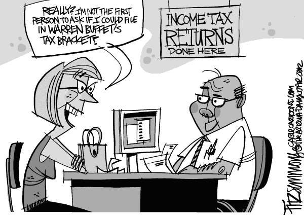 David Fitzsimmons - The Arizona Star - tax time - English - taxes, buffet, tax returns, government