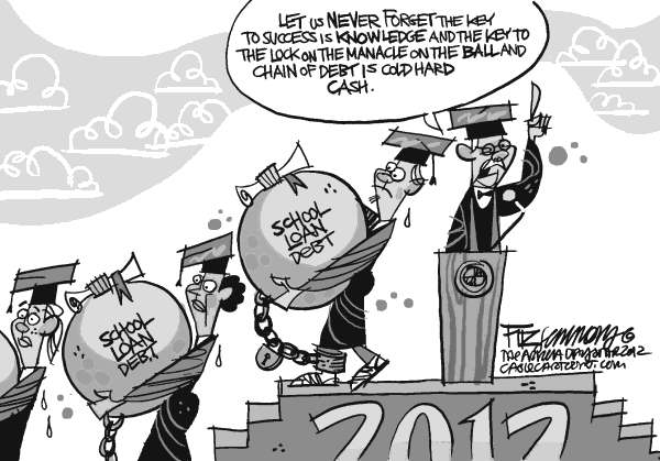 David Fitzsimmons - The Arizona Star - Class of 2012 - English - college, debt, education, class 2012