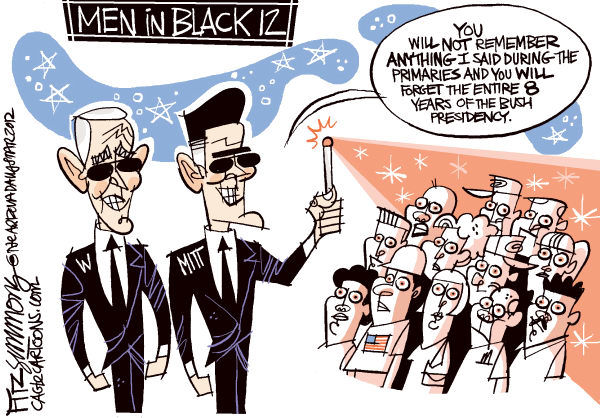 David Fitzsimmons - The Arizona Star - men in black - English - bush, romney, men in black