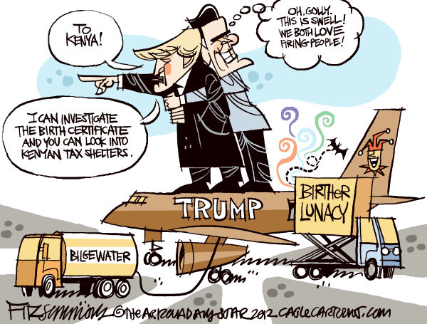 David Fitzsimmons - The Arizona Star - Trumpney - English - Trump, Romney