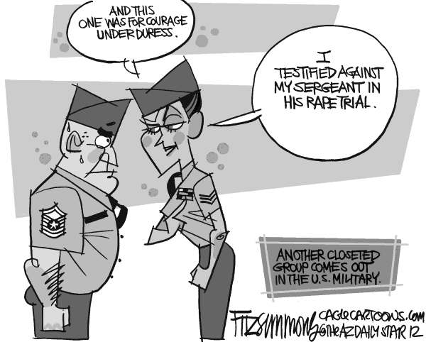 David Fitzsimmons - The Arizona Star - Military Rape Culture - English - military,rape