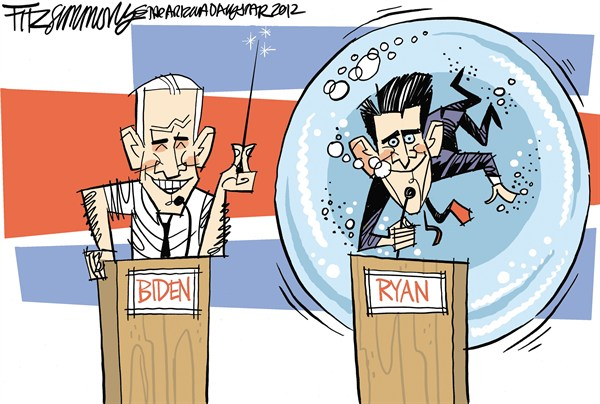 David Fitzsimmons - The Arizona Star - Reventa Burbuja - Spanish - Paul,Ryan,Joe,Biden,Debate,eleccion,2012