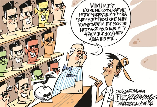 David Fitzsimmons - The Arizona Star - Which Mitt - English - romney