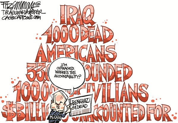 David Fitzsimmons - The Arizona Star - McRage - English - McCain,benghazi