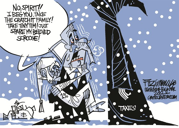 Not my Ebeneezer © David Fitzsimmons,The Arizona Star,congress,taxes,1 percent,political christmas, political christmas 2012,Christmas, fiscal cliff