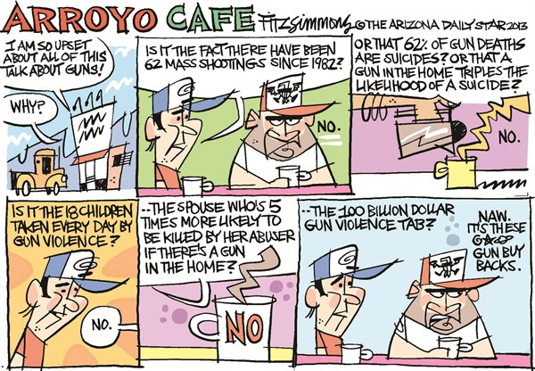 David Fitzsimmons - The Arizona Star - Gun rage - English - guns