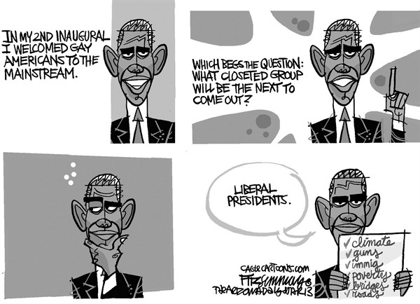 David Fitzsimmons - The Arizona Star - out of the closet - English - obama