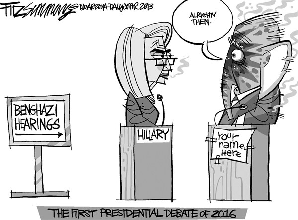 David Fitzsimmons - The Arizona Star - Hillary  and Benghazi - English - Hillary Clinton, Benghazi, campaign 2016