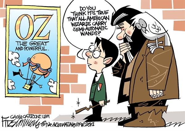 David Fitzsimmons - The Arizona Star - COLOR Oz - English - Wizard of oz, guns