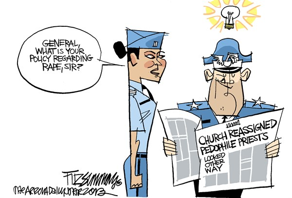 military rape © David Fitzsimmons,The Arizona Star,military rape