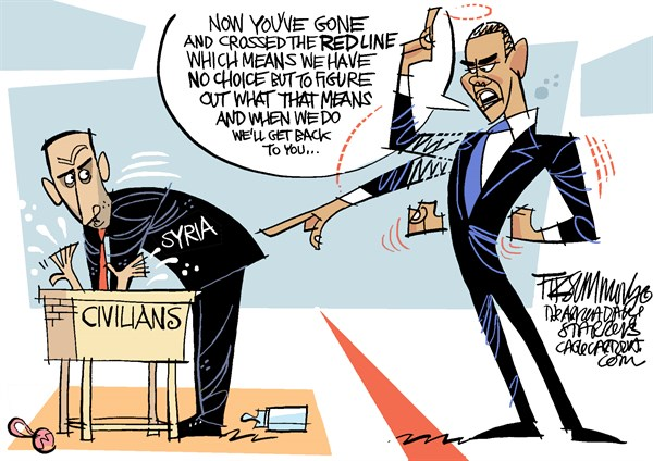 David Fitzsimmons - The Arizona Star - Serious about Syria COLOR - English - Syria
