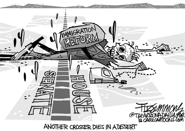 David Fitzsimmons - The Arizona Star - immigration - English - immigration