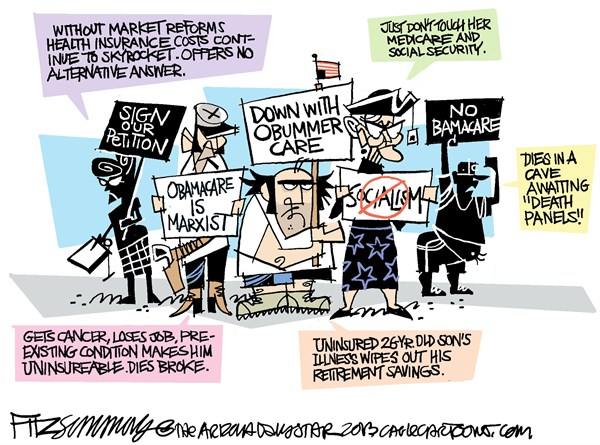 David Fitzsimmons - The Arizona Star - healthcare - English - obamacare, health care, tea party