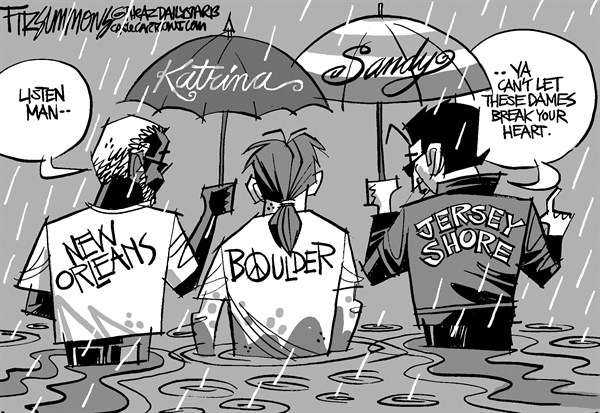 David Fitzsimmons - The Arizona Star - Boulder - English - Boulder, Colorado, weather, floods, disasters