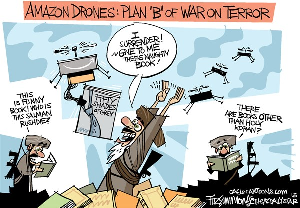 David Fitzsimmons - The Arizona Star - Amazon drones - English - drones, amazon