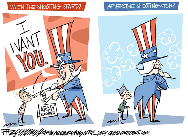 David Fitzsimmons - The Arizona Star - Uncle Sam's Promise COLOR - English - veterans