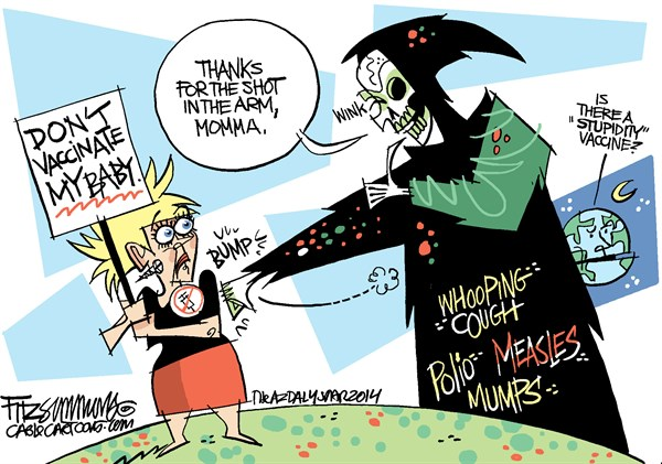 A pox on your house © David Fitzsimmons,The Arizona Star,vaccines,immunization