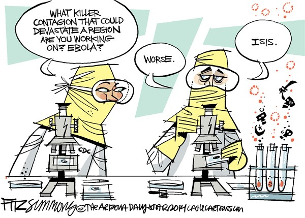 Plague © David Fitzsimmons,The Arizona Star,disease, ebola, middle east, ISIS