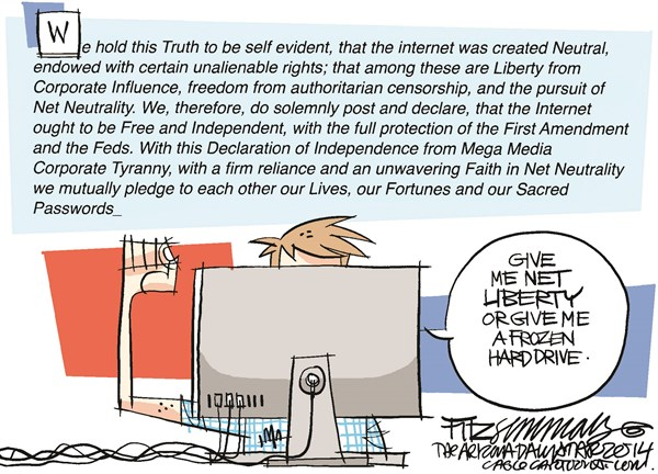 Net Neutrality © David Fitzsimmons,The Arizona Star,internet, net neutrality, FCC, Obama