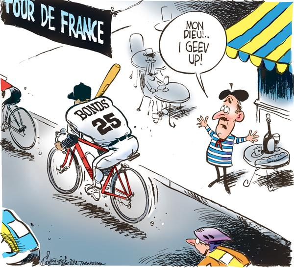 Patrick Corrigan - The Toronto Star - Tour de France getting worse - English - Tour de France, Barry, Bonds, doping, drugs, steroids, baseball, bicycle
