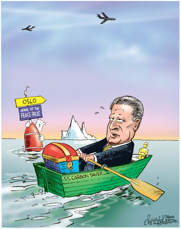 Patrick Corrigan - The Toronto Star - gore wins nobel peace prize - English - gore, nobel, peace, prize, democrat, global warming