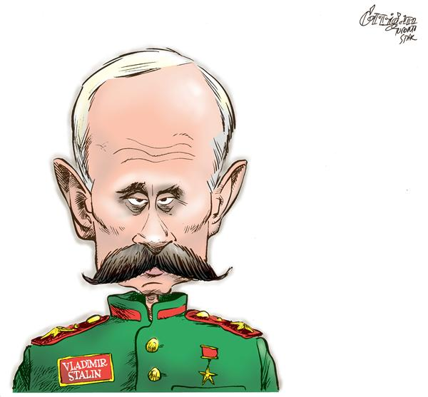 Patrick Corrigan - The Toronto Star - Putin becomes Joe Stalin - English - Putin, Georgia, Russia, Stalin, Bush, ossetia