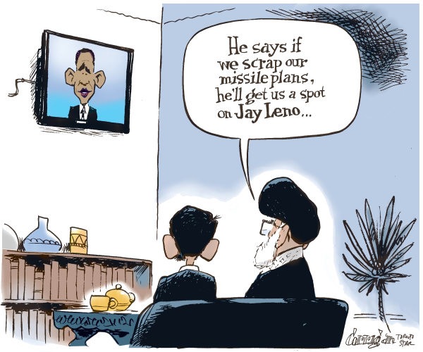 Patrick Corrigan - The Toronto Star - Obama broadcasts to Iran - English - Obama, Iran, Leno