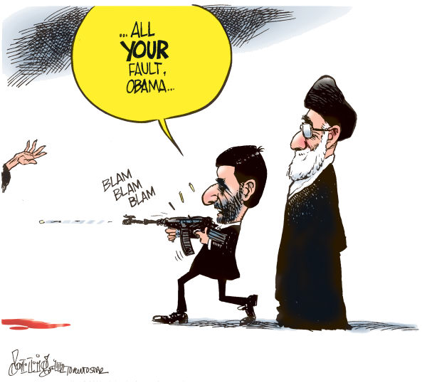 Patrick Corrigan - The Toronto Star - Blame Obama - English - Obama, Ahmadinejad, Iran