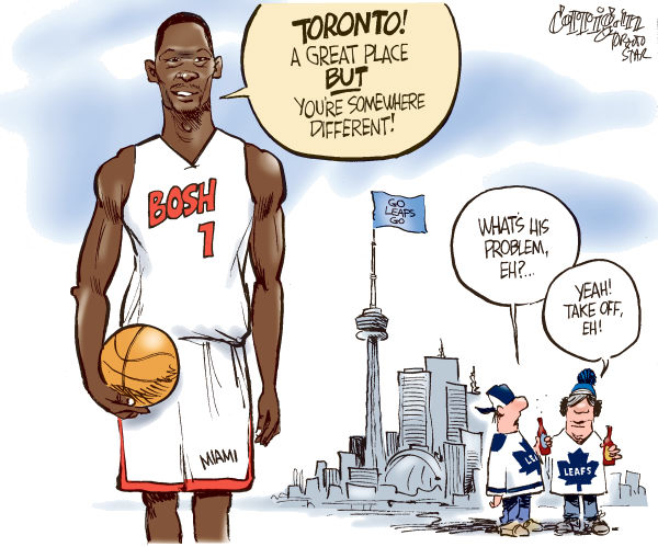 81557 600 Bosh leaves Toronto cartoons