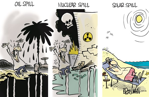 Energy sources © Peter Broelman,Australia,energy,oil,nuclear,nuclear energy,solar energy,solar,sun,green,green energy,environment,pollution,Fukushima,oil spill,disaster
