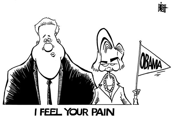 Randy Bish - Pittsburgh Tribune-Review - He feels her pain - English - CLINTON,HILLARY,BILL,OBAMA,CONVENTION