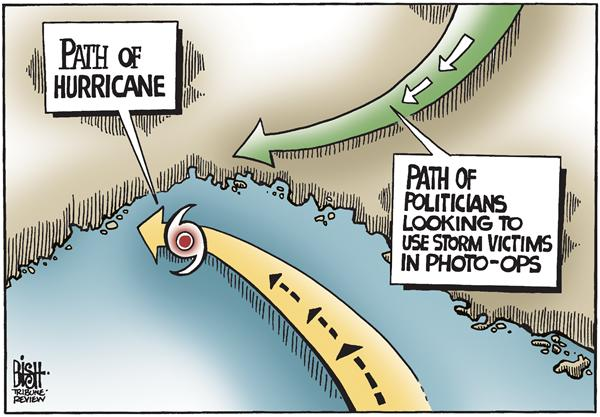 Randy Bish - Pittsburgh Tribune-Review - Hurricanes and politicians, COLOR - English - HURRICANE,CAMPAIGN,PHOTO-OP,OBAMA,BIDEN,MCCAIN
