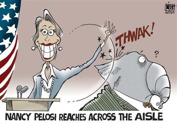 Randy Bish - Pittsburgh Tribune-Review - Pelosi reaches out, COLOR - English - NANCY PELOSI,BAILOUT,REPUBLICANS,BLAME