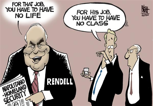 Randy Bish - Pittsburgh Tribune-Review - Rendell, Napolitano, COLOR - English - RENDELL,NAPOLITANO,HOMELAND SECURITY