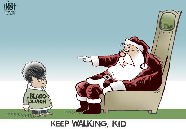 Randy Bish - Pittsburgh Tribune-Review - Blagojevich go home, COLOR - English - BLAGOJEVICH,GOVERNOR,ILLINOIS