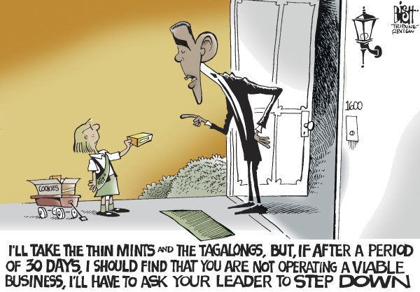 Randy Bish - Pittsburgh Tribune-Review - YOUR LEADER MUST GO, COLOR - English - OBAMA,GM,CEO,FIRED,STEP DOWN