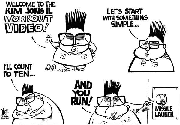 Randy Bish - Pittsburgh Tribune-Review - KIM JONG IL WORKOUT VIDEO, b/w - English - KIM JONG IL,NORTH KOREA,MISSILE