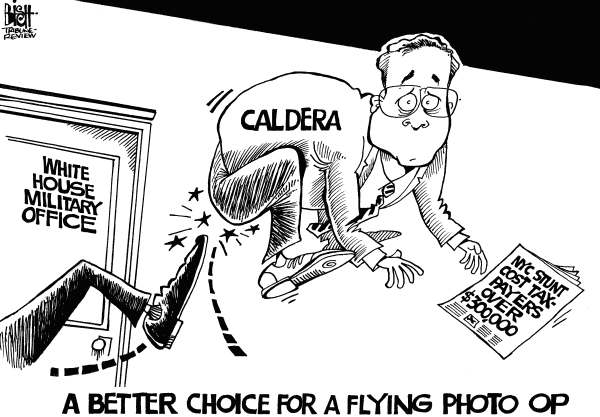 Randy Bish - Pittsburgh Tribune-Review - FLYING PHOTO OP, b/w - English - FLYING PHOTO OP,NEW YORK CITY,CALDERA